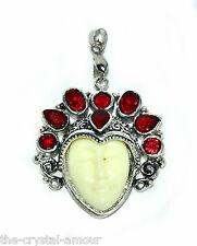 Goddess faccia, S/P Ciondolo Rosso rubino zircone cristallo pietre