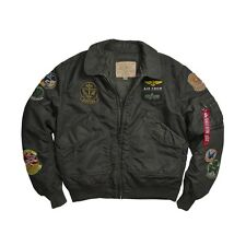Alpha Industries CWU Pilot Flight Jacket Sage Black, Sage Brown  MJC38014C1