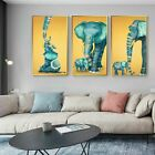 Blue Elephant Painting Modern Cartoon Canvas Picture Nordic Wall Art Home Decors
