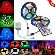 10M  600 LED Lighting Strips 3528 SMD RGB 44 Key Remote Controller for TV, Room