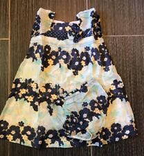 JANIE AND JACK 18-24 BY THE SEASHORE BLUE FLORAL DRESS