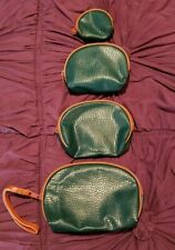 Makeup Bags 4 assorted sizes Hunter Green