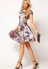 Ted Baker Mecia dress Diamond Sequin print Skater Size 3 UK 12