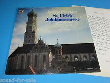 Arthur Piechler: St. Ulrich Jubiläumsmesse - LP OVP mit Anschreiben von Piechler