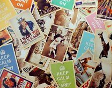 Lot of 32 Old Memories Forever Second World War Poster Vintage Postcards
