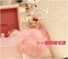 3.5mm Hello Kitty Pink Rabbit Fur Ball Anti-Dust Cap Plug For iPhone SmartPhone