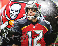 Tom Brady Tampa Bay Buccaneers Signed Photo Autograph Reprint