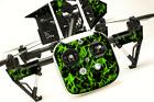 DJI Inspire 1 Quadcopter/Drone, Transmitter, Battery Wrap/Skin | Green Flames