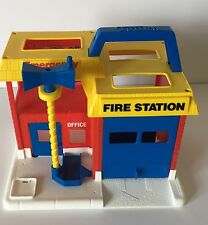 Vintage TONKA My 1st Fire Station House Emergency Center Toddler Play Set Toy