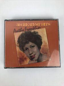 Aretha Franklin 30 Greatest Hits 1985 2 CD Set Atlantic Records * Mint Discs