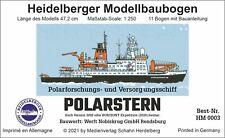 Heidelberger Modellbaubogen Forschungsschiff POLARSTERN 1:250