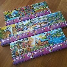ARTBOX by Lafayette Puzzle Factory - Lot of 10 Mini-Jigsaw Puzzles 500 pcs each