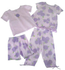 Painting Red Rhinos Pants Top Lavender Purple Hydrangea Flowers Capri Set 4T 4