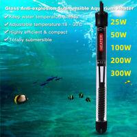 Aquarium Fish Tank Automatic Water Thermostat Heater W/ Cups 25/50/100/200/300W