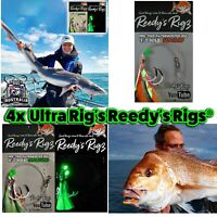 4x Reedys Fishing Rigs Tied Ultra Bottom Rig Tied 80lb Paternoster Running