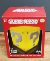 NIB Super Mario Bros. Mini Question Block Decor Light Sounds Man Cave