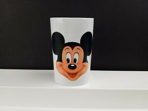 """Vintage Disney Mickey Mouse 2-sided Toothbrush Holder 4"""" x 2.5"""" Cup"""