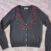 Moth by Anthropologie Puff Ball Cardigan Size Small