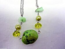New Fashion Jewelry Earrings & Necklace Set Green Faux Gemstones & Crystals