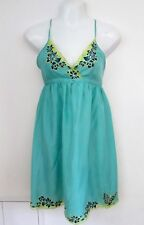 New Look Strappy 100% Silk Embroidered Sundress, Empire-line, Holidays- Sz 10