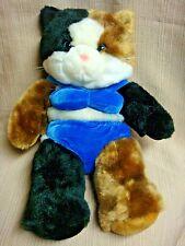2001 Plush Calico Kitty Cat in Blue Velvet Bikini by The Bear Factory