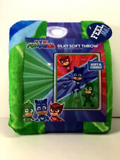 "NEW Disney PJ MASKS Silky Soft THROW BLANKET 40"" x 50"" CATBOY OWLETTE GEKKO"
