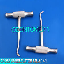 2 Pcs Cross Bar Dental Root Elevator Winter Blade 14l Amp 14r