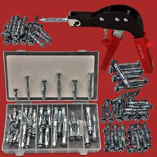 Dübelzange+111 Hohlraumdübel Sortiment M4+M5+M6 Stahl Dübel Set Metalldübel Satz