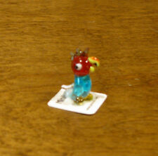 """JACO Blown Glass Minikins Figurines #10063 PARROT, New From Retail Store, 0.75"""""""
