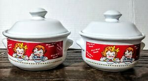 Campbell Covered Soup Bowls From Houston Harvest Gifts 1998