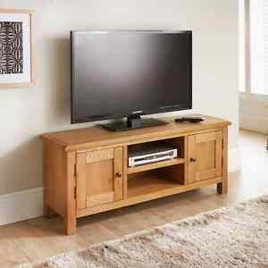 """Solid wood Wide TV unit With Storage for tv up to 65"""""""