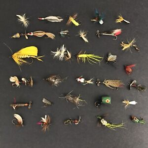 Lot of 30 Vintage Trout Fishing Flies