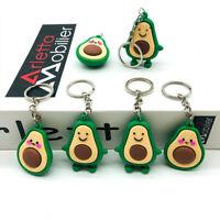 Fashion Simulation Fruit Avocado Smile-shaped Keychain Avocado Key Chain Jewelry