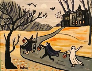 """PHIL LEWIS- TRICK OR TREAT HALLOWEEN PARTY Oct 31st -8x10"""" 25x20cm -SPOOKY ART"""