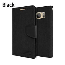 Canvas Leather Slim Flip Holder Wallet Case Card Cover For Galaxy S9+ iPhone XR