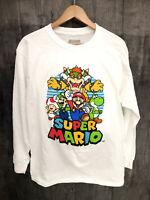 New! Super Mario XL Long Sleeve Shirt featuring Mario Bowser Yoshi Luigi & Toad!