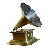 Retro Phonograph Model Vintage Record Player Antique Gramophone Home Decor