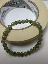 100% Natural Genuine Burmese Jadeite Jade Beaded Bracelet Grade A #686 Color