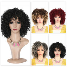 Natural Curly Wigs for Black Women Afro Synthetic Hair Cosplay Party Costume HOT
