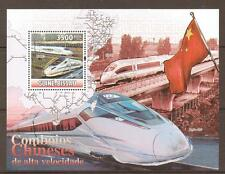 G.BISSAU 2010 FAST TRAINS M/SHEET MNH