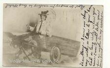 1906 Fantasy RPPC Woman in Donkey Cart Marshall MN A5683