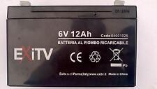 BATTERIA AL PIOMBO RICARICABILE 6V 12Ah 15x50x9,5 cm  LP12-6 PER MOTO PEG PEREGO