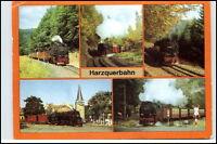 Eisenbahn Motiv-AK DDR Zug Lok Lokomotive Kleinbahn Harzquerbahn 5 Ansichten