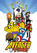 Avenger Time Print - Mash up inspired by The Avengers and Adventure Time