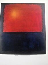 Mark Rothko No 207 Poster after 1961 Painting 14x11 Unsigned Offset Lithograph