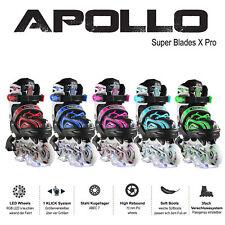 Apollo Super Blades X Pro Inlineskates mit LED - Inliner Rollschuhe Fitness
