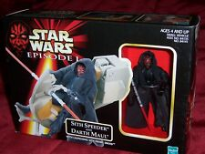 "Star Wars Episode I ""Sith Speeder And Darth Maul"" 1998 Action Figure Set, Nib"