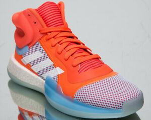 adidas Marquee Boost Mens Hi-Res Coral Basketball Shoes Boost Sneakers F97276