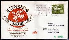 EUROPA CEPT FDC 1961 ALLEMAGNE 8 - flamme BONN de 1962 / OR