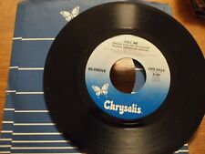 "BLONDIE GIORGIO MORODER Call Me 7""VINYL 45 Single 1980 American Gigolo CHS2414"